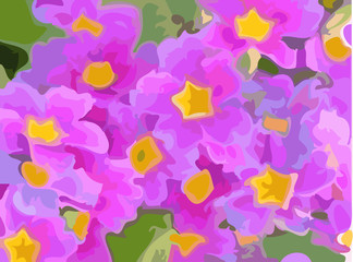abstract background: flowers