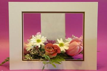 framed floral  arrangement