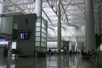Wall Murals Airport night airport 2