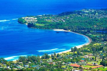 hanalei bay, kauai island, hawaii.