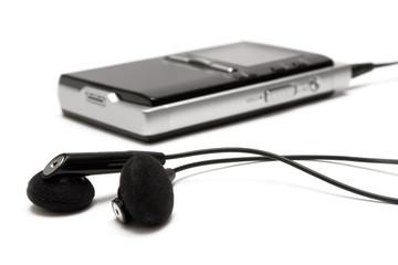 mp3 player w/ earphones