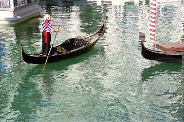gondolas and gondolier