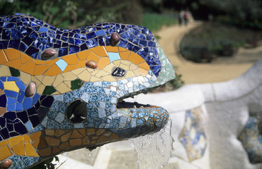 gaudi's lizard fountain