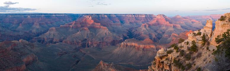 grand canyon np panorama at sunset