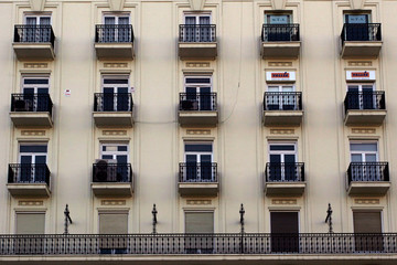 balconies in seville
