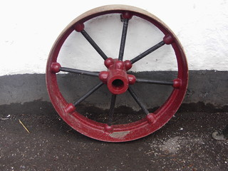 old metal wheel