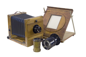the old studio camera with accessories