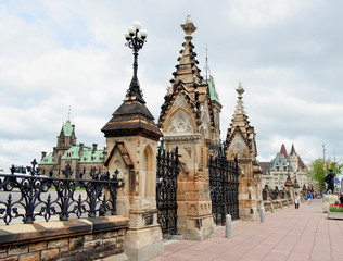 canadian parliament building gates
