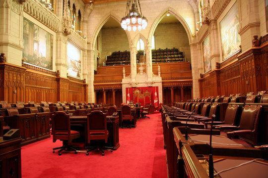 canadian parliament senate chamber