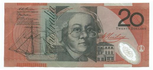 20 australian dollars (reverse)