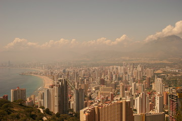 a view of benidorm