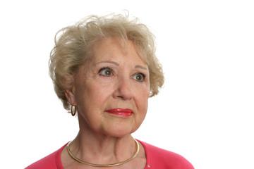 senior woman faces uncertain future