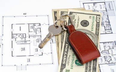 key and money on home plan