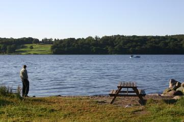 denmark, a lake near aarhus