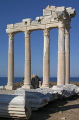 ancient columns in side, turkey
