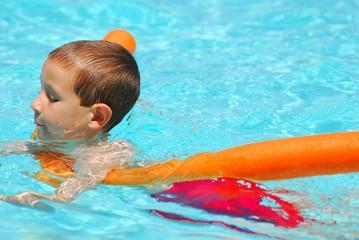 swimming boy six