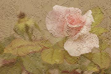 stucco rose