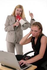 agitated business team