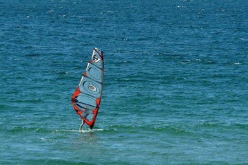 windsurfer in sea