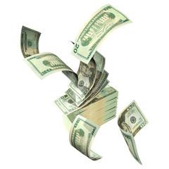 3d blowing cash