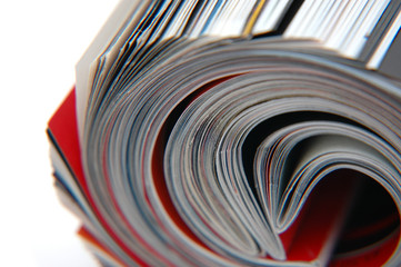 roll of magazine closeup