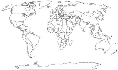 Foto op Plexiglas Wereldkaart world 3