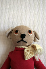 old knitted toy