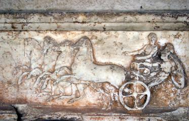 ancient greek bas-relief