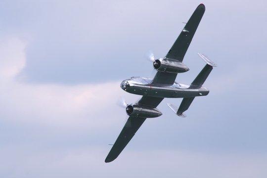 ancient bi-propeller aircraft