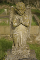 cherub headstone