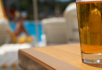 beer at the pool