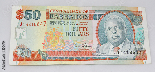 Barbados 50 Dollar Bill
