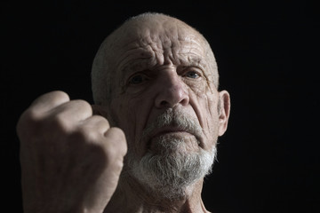 senior with fist 2