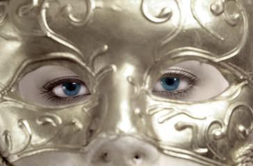 blue eyes behind the mask