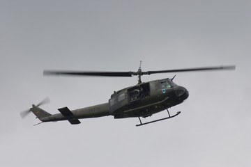 Printed roller blinds Helicopter huey mit doorgunner