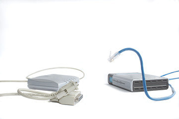 modems with com and lan ports