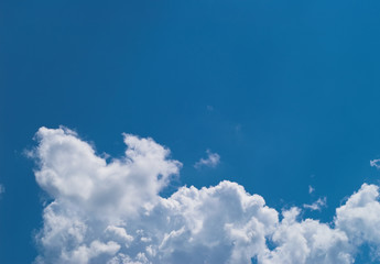 blue sky with white clouds at midday - image 11