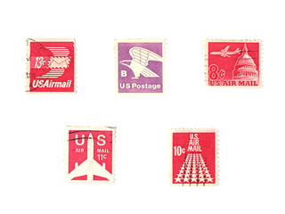 stamps: us stamps - air mail