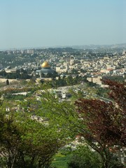 View of old city of Jerusalem