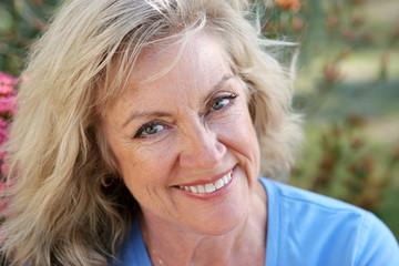 mature woman - beautiful smile