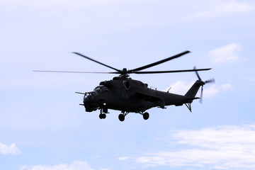 helicopter in flight mi24