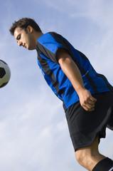 soccer - football player juggling