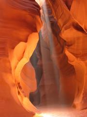 Photo sur Aluminium Antilope sunbeam in upper antelope canyon, in page, arizona