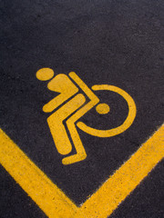 handicap park sign