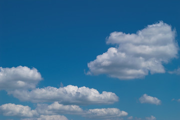 blue sky with white clouds at midday - image 24