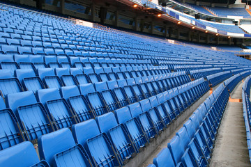 Printed roller blinds Stadion blue seats