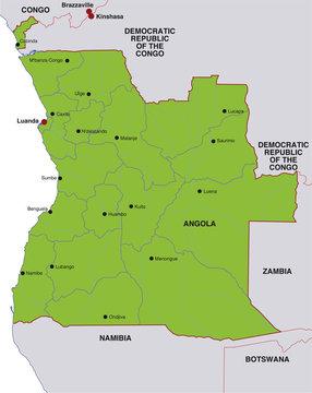 map angola landkarte angola
