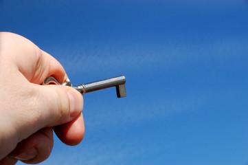 holding antique key