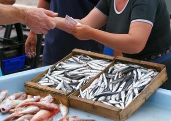 commerce de poissons