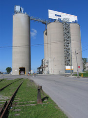 silos of a cement plant